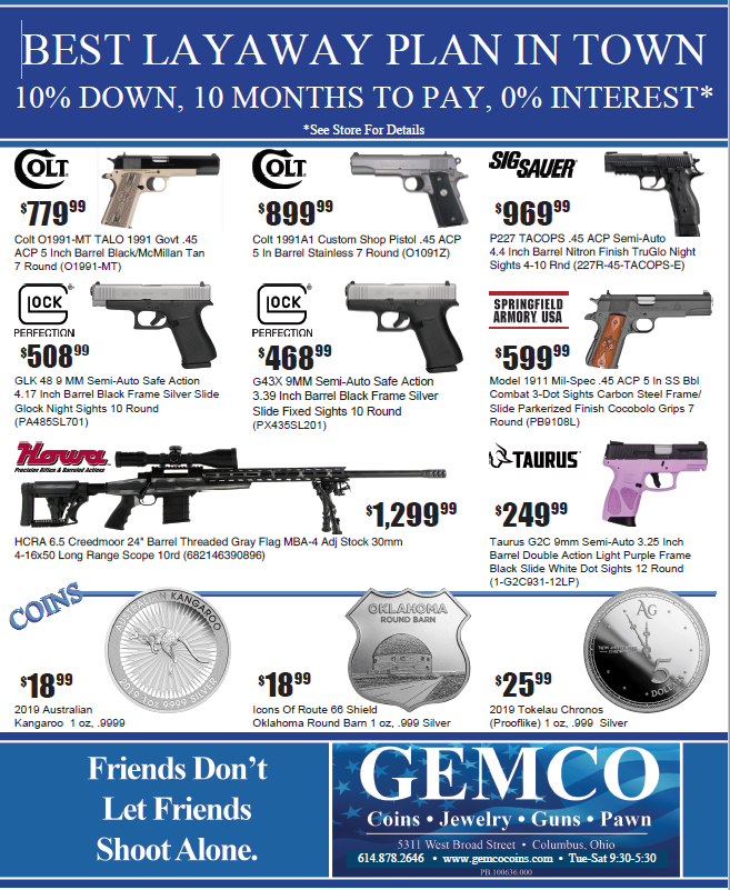 Gemco Columbus Pawn Shop and Gun Store Weekly Specials